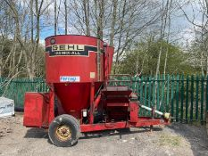 GEHL 125 MIX-ALL FEED MILL, RUNNING UP FINE, COMES WITH PTO, *NO VAT*