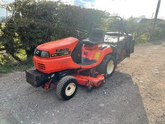 Kubota G18 Ride On Mower, Runs Drives And Cuts, High Tip Collector, Hydrostatic *NO VAT*