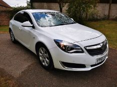 2015/65 REG VAUXHALL INSIGNIA TECH LINE CDTI ECO SS 2.0 DIESEL WHITE 5DR, SHOWING 0 FORMER KEEPERS