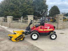 2014 SHIBAURA CM374 RIDE ON MOWER WITH A 2014 MUTHING FLAIL DECK, RUNS DRIVES AND CUTS *PLUS VAT*