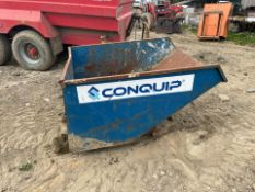2018 CONQUIP TIPPING SKIP, SUITABLE FOR PALLET FORKS, RATED CAPACITY 2000KG *PLUS VAT*