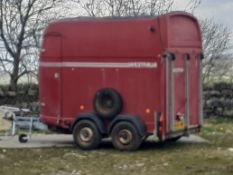 VERY RARE WESTFALIA HORSEBOX TRAILER, MADE IN GERMANY, TOWS AS IT SHOULD *NO VAT*