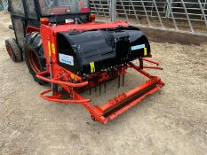 WEIDEMANN TERRA SPIKE G6/135 AERATOR, PTO DRIVEN, SUITABLE FOR 3 POINT LINKAGE, SPINS WELL *NO VAT*