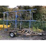 TOWABLE SINGLE AXLE STEVEVICK PIPE TRAILER *PLUS VAT*