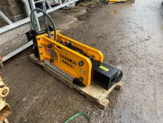BRAND NEW, UNUSED HANMEN HMB680 BREAKER, SUITABLE FOR 5-8 TON EXCAVATOR, C/W PIPES, CHISEL, GAS KIT