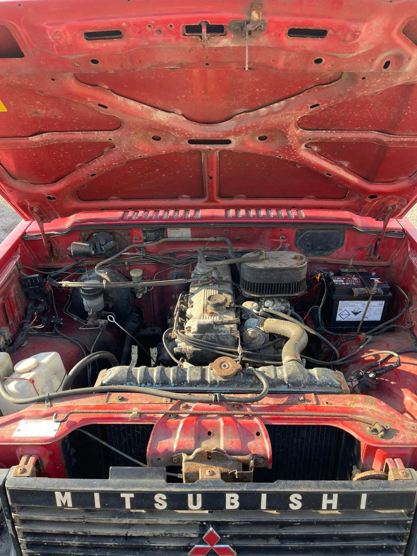 1987 MITSUBISHI SHOGUN SWB V6, BARN FIND, PETROL ENGINE, SHOWING 9 PERVIOUS KEEPERS *NO VAT* - Image 12 of 16
