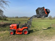 2013 (62) KUBOTA G23-II RIDE ON MOWER, RUNS DRIVES AND CUTS, HIGH TIP COLLECTOR *PLUS VAT*