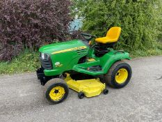 2009/58 JOHN DEERE X748 ULTIMATE RIDE ON MOWER, RUNS DRIVES AND CUTS, HYDROSTATIC *PLUS VAT*