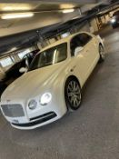2014 BENTLEY FLYING SPUR W12 AUTO, 4 DOOR SALOON, WHITE, SHOWING 1 PREVIOUS OWNER *PLUS VAT*