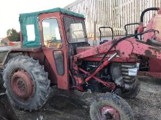MASSEY FERGUSON 165 TRACTOR, C/W FRONT LOADER ATTACHMENT, RUNS AND WORKS *PLUS VAT*