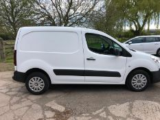 2013 PEUGEOT PARTNER 850 S L1 HDI WHITE PANEL VAN, 1.6 DIESEL ENGINE *NO VAT*