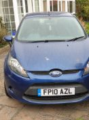 2010 FORD FIESTA EDGE TDCI 68, 5 DOOR HATCHBACK, 1.4 DIESEL ENGINE *NO VAT*