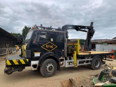1991/H REG MERCEDES-BENZ CVS 1617AK CREW CAB YELLOW/BLACK 6.0L DIESEL CRANE / FLATBED LORRY