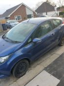 2010 FORD FIESTA EDGE TDCI 68, BLUE 3 DOOR HATCHBACK, 1.4 DIESEL ENGINE *NO VAT*