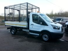 2017 (67) FORD TRANSIT 350 CAGED TIPPER, 20LT EURO 6, 2.0 DIESEL ENGINE, 42,736 MILES *PLUS VAT*