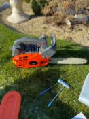 PROFESSIONAL TOP HANDLE CHAIN SAW, BRAND NEW AND UNUSED *NO VAT*