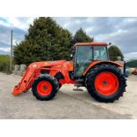 2010 KUBOTA M128X TRACTOR WITH LOADER, LOW 5500 HOURS, FULLY GLASS CAB, 3 POINT LINKAGE *PLUS VAT*