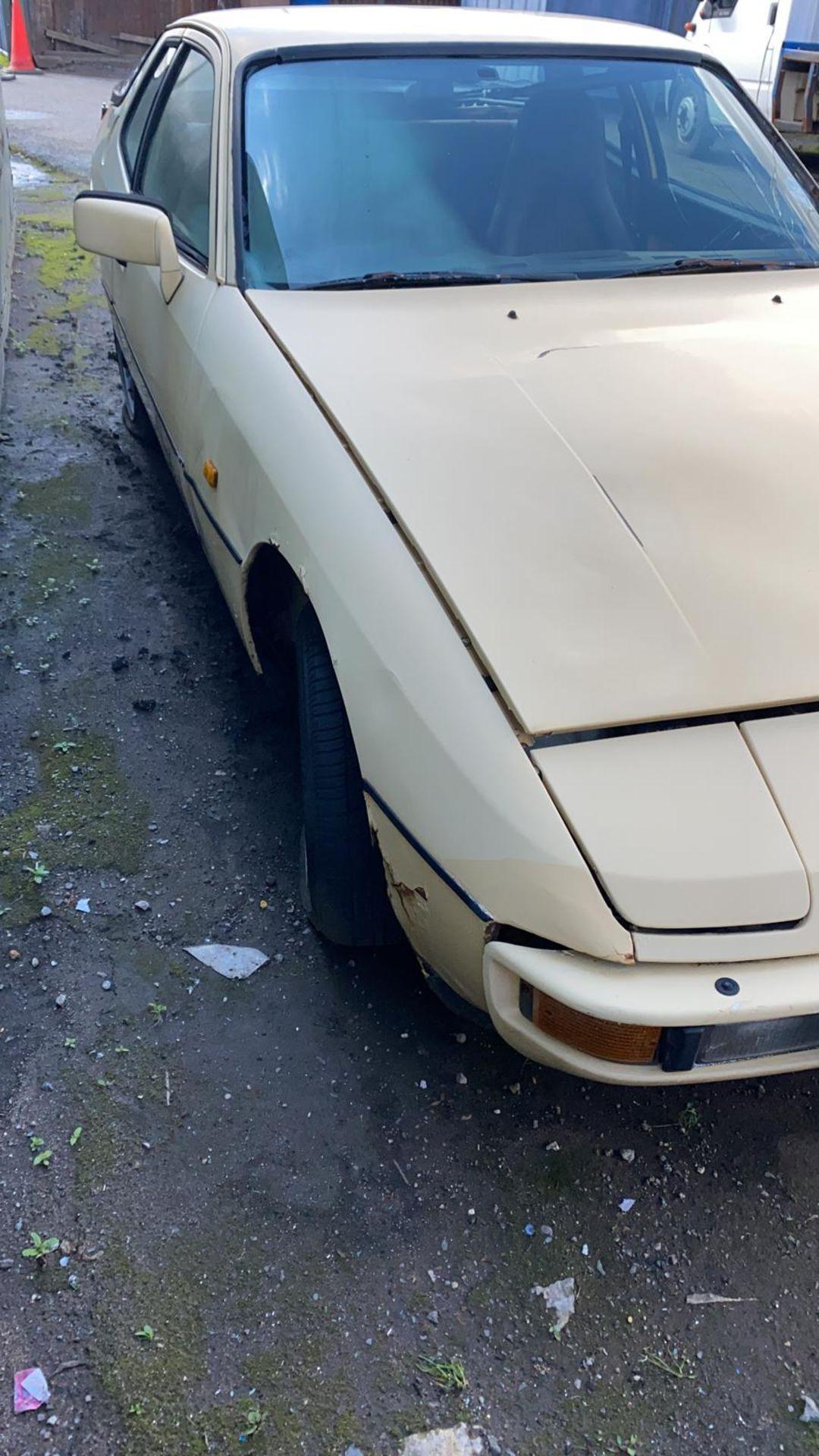 1983/A REG PORSCHE 924 2.0 PETROL BEIGE COUPE, V5 PRESENT *NO VAT* - Image 4 of 12