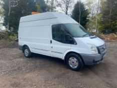 2013/13 REG FORD TRANSIT 100 T350 RWD 2.2 DIESEL WHITE PANEL VAN, SHOWING 0 FORMER KEEPERS *PLUS VAT
