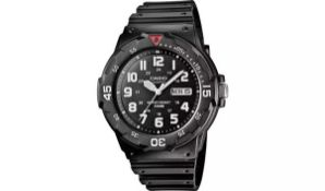 CASIO MENS BLACK WRIST WATCH RESIN, WATER RESISTANT TO 100M *NO VAT*