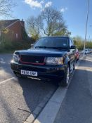 2006 (56) RANGE ROVER SPORT 2.7 V6, BLACK ESTATE, 2720CC DIESEL ENGINE, SHOWING 154K MILES *NO VAT*