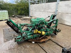 5 GANG CYLINDER MOWER FOR TRACTOR, PTO DRIVEN, SPARE ROLLERS *PLUS VAT*