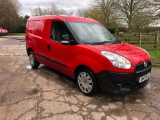 2013 FIAT DOBLO 16V MULTIJET PANEL VAN, 1.2 DIESEL ENGINE, MANUAL GEARBOX *PLUS VAT*
