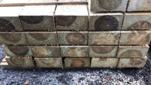 TREATED Green band sleepers Pack of 50 x 2.4m no vat