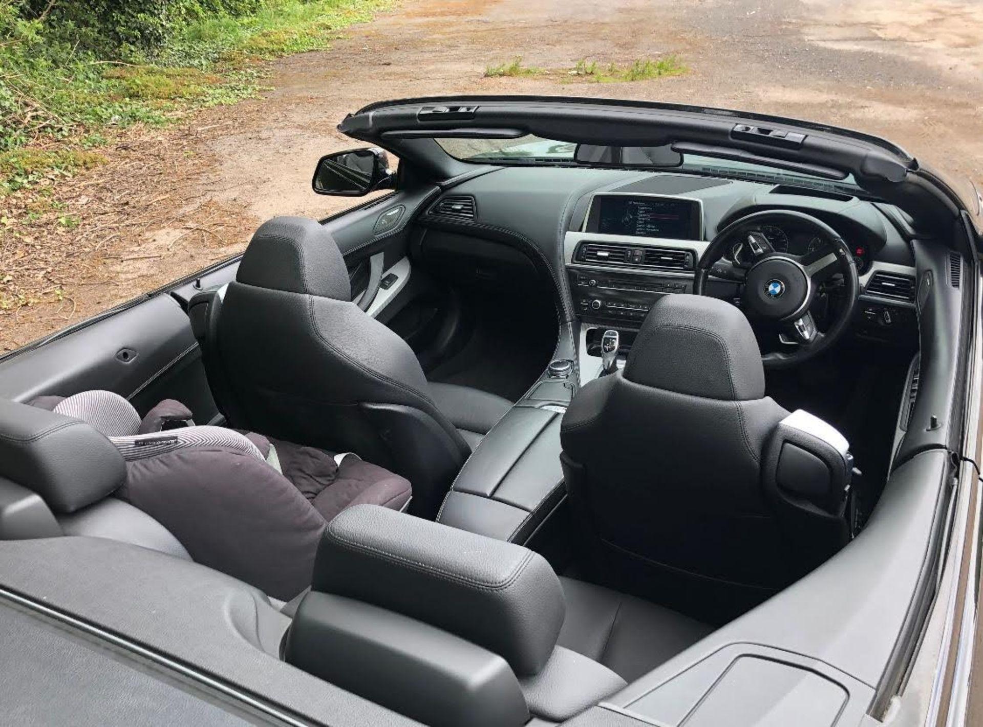 2014/14 REG BMW 640D M SPORT AUTOMATIC 3.0 DIESEL BLACK CONVERTIBLE *NO VAT* - Image 10 of 17