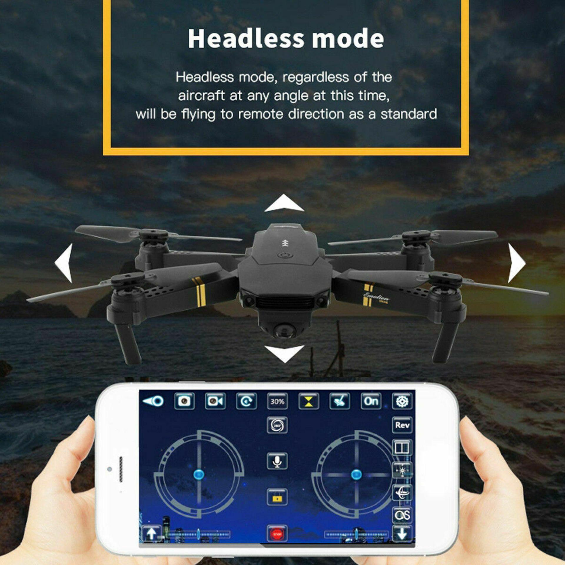 NEW & UNUSED DRONE X PRO WIFI FPV 1080P HD CAMERA FOLDABLE RC QUADCOPTER + BAG *PLUS VAT* - Image 11 of 12