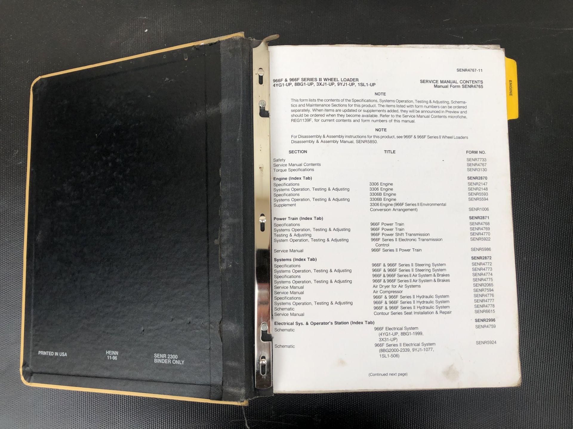 CATERPILLAR 966F 966F II SERVICE MANUAL, GENUINE FACTORY CAT WORKSHOP MANUAL - Image 3 of 3