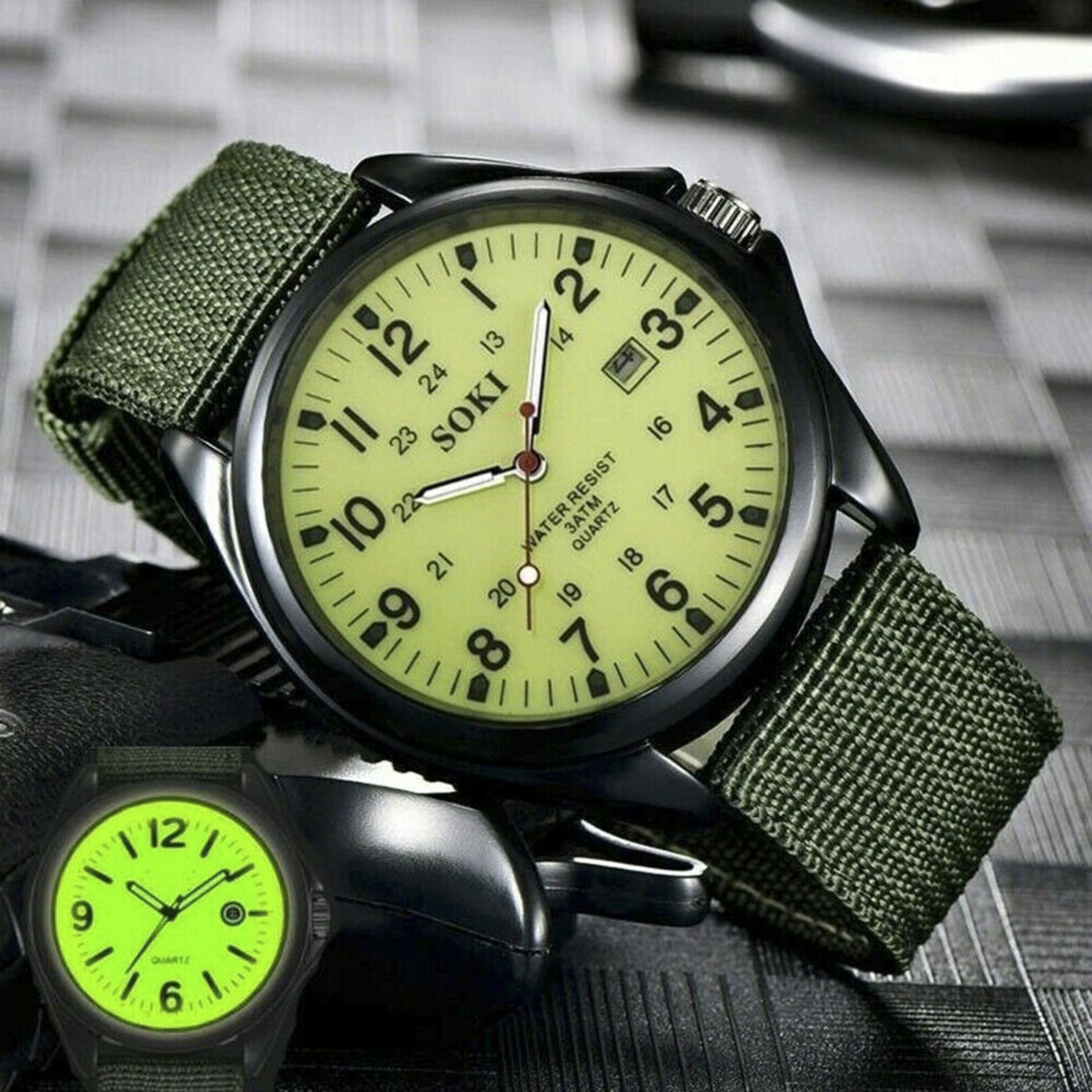 NEW & UNUSED SOKI FASHION QUARTZ LUMINOUS MILITARY INFANTRY ARMY STYLE MENS WRIST WATCH *PLUS VAT* - Image 2 of 3