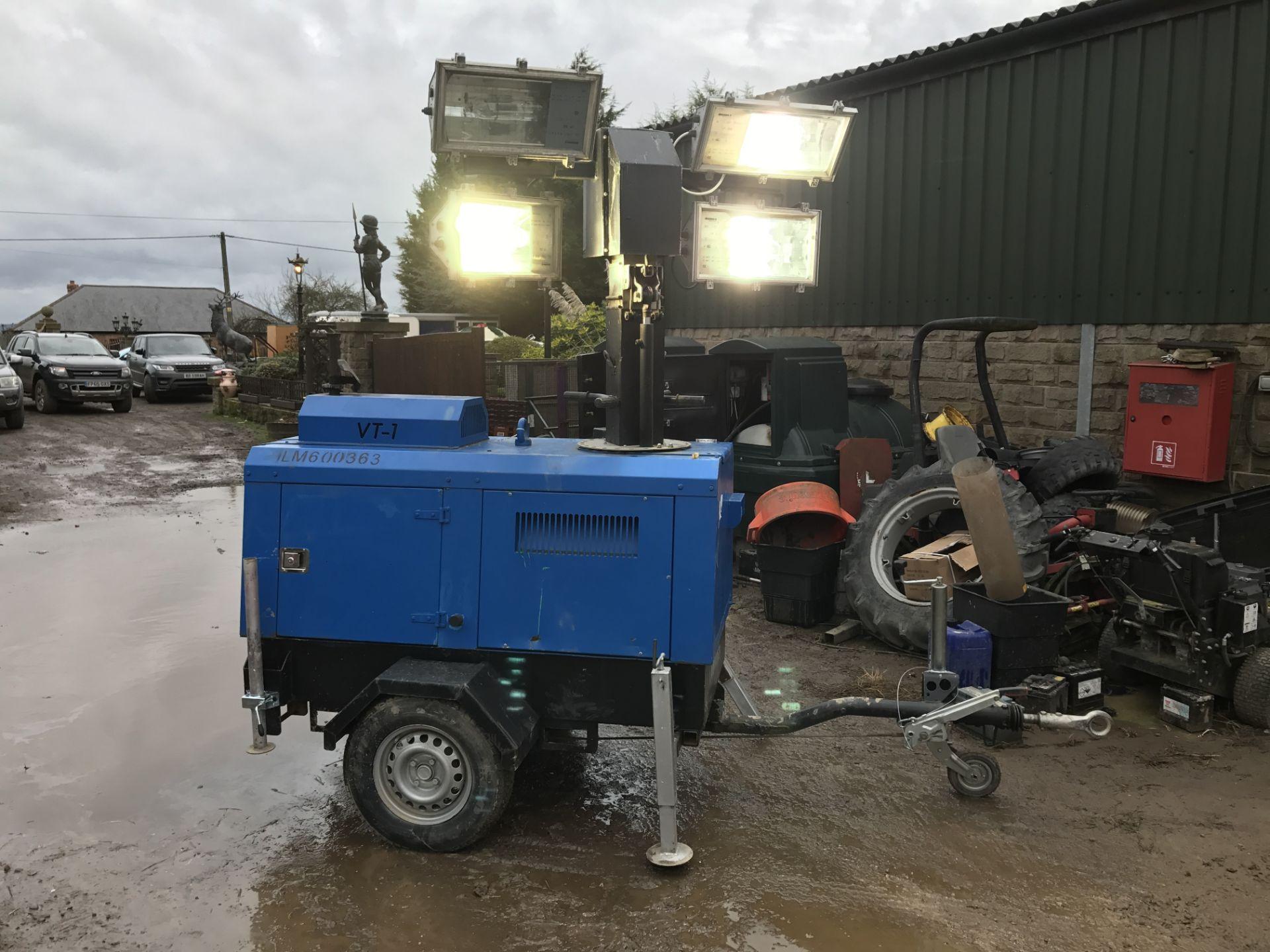 DS - VT1 LIGHTING TOWER / GENERATOR - DIESEL ENGINE DRIVEN *PLUS VAT*  SUPER LIGHT VT 1 STARTS