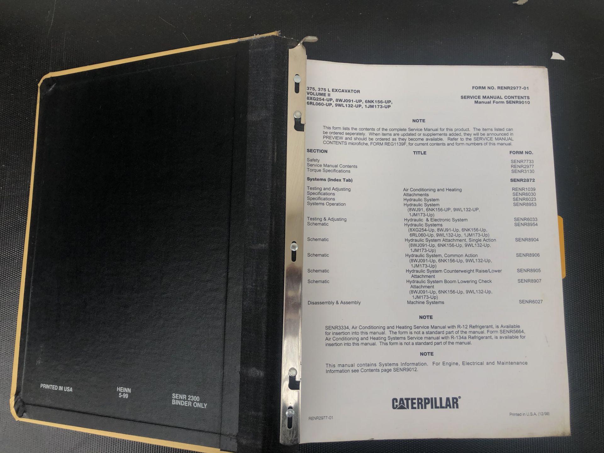 CATERPILLAR 375 375L VOLUME II SERVICE MANUAL, GENUINE FACTORY CAT WORKSHOP MANUAL - Image 3 of 3