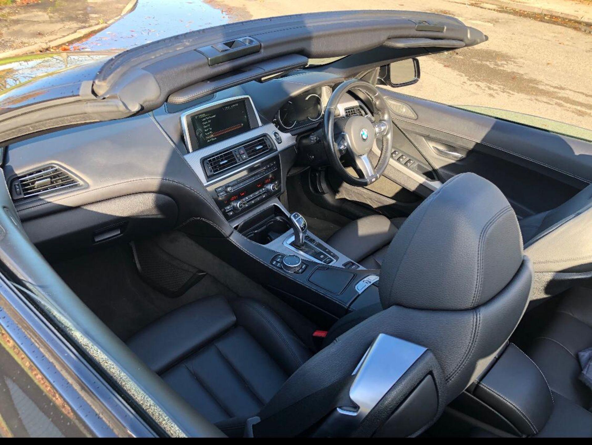 2014/14 REG BMW 640D M SPORT AUTOMATIC 3.0 DIESEL BLACK CONVERTIBLE *NO VAT* - Image 9 of 17