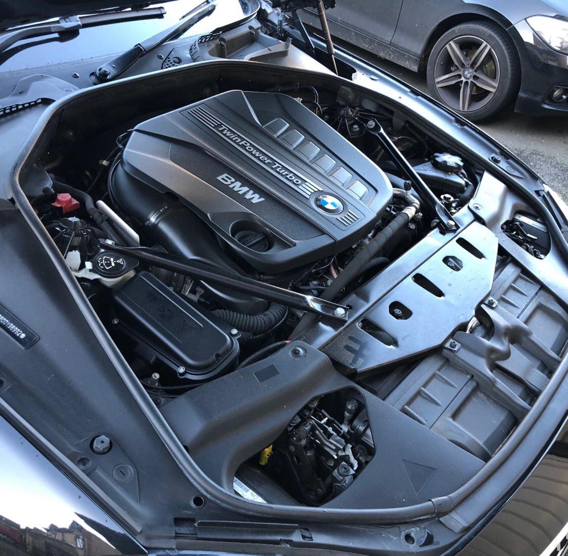 2014/14 REG BMW 640D M SPORT AUTOMATIC 3.0 DIESEL BLACK CONVERTIBLE *NO VAT* - Image 13 of 17