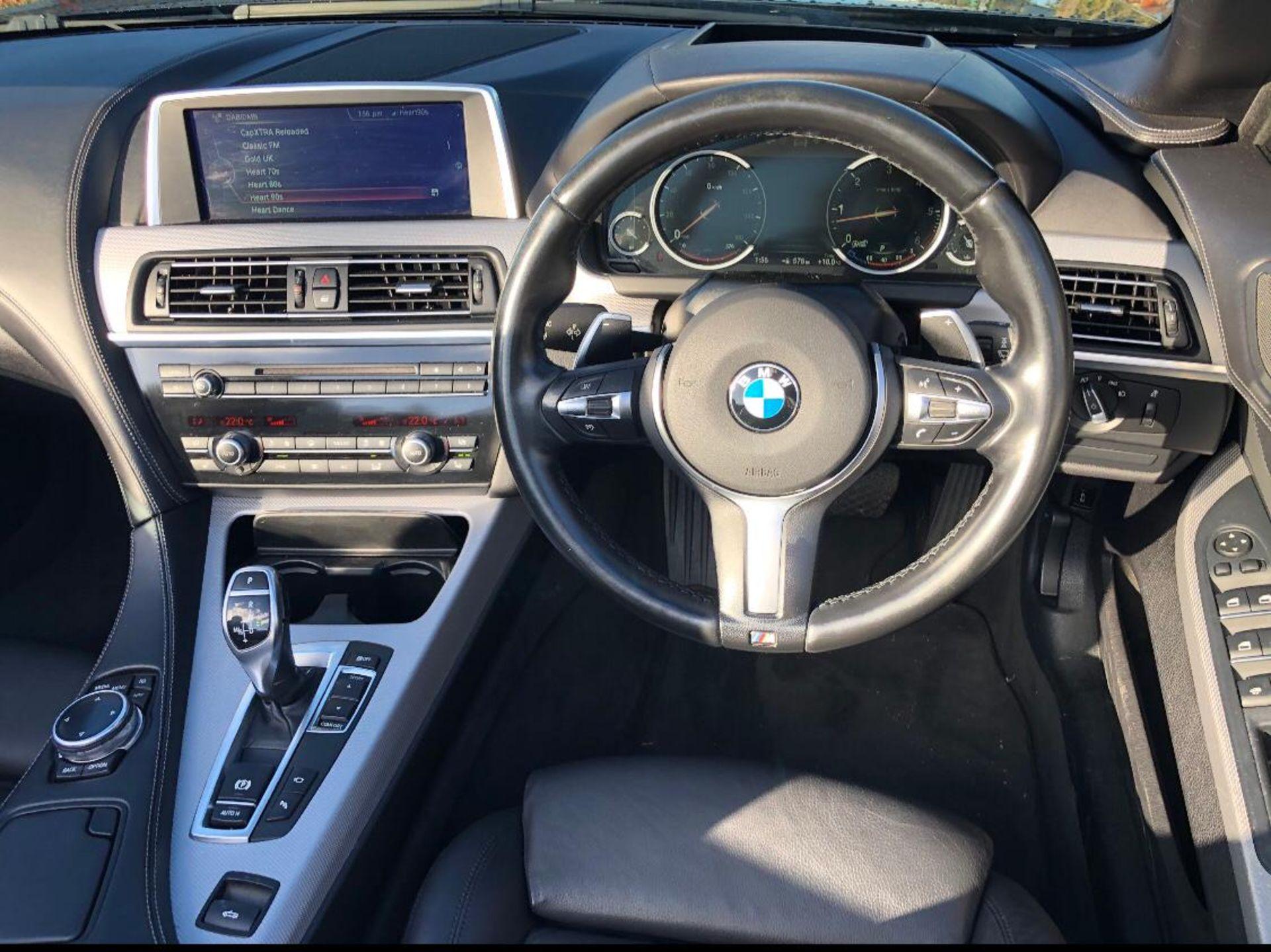 2014/14 REG BMW 640D M SPORT AUTOMATIC 3.0 DIESEL BLACK CONVERTIBLE *NO VAT* - Image 12 of 17