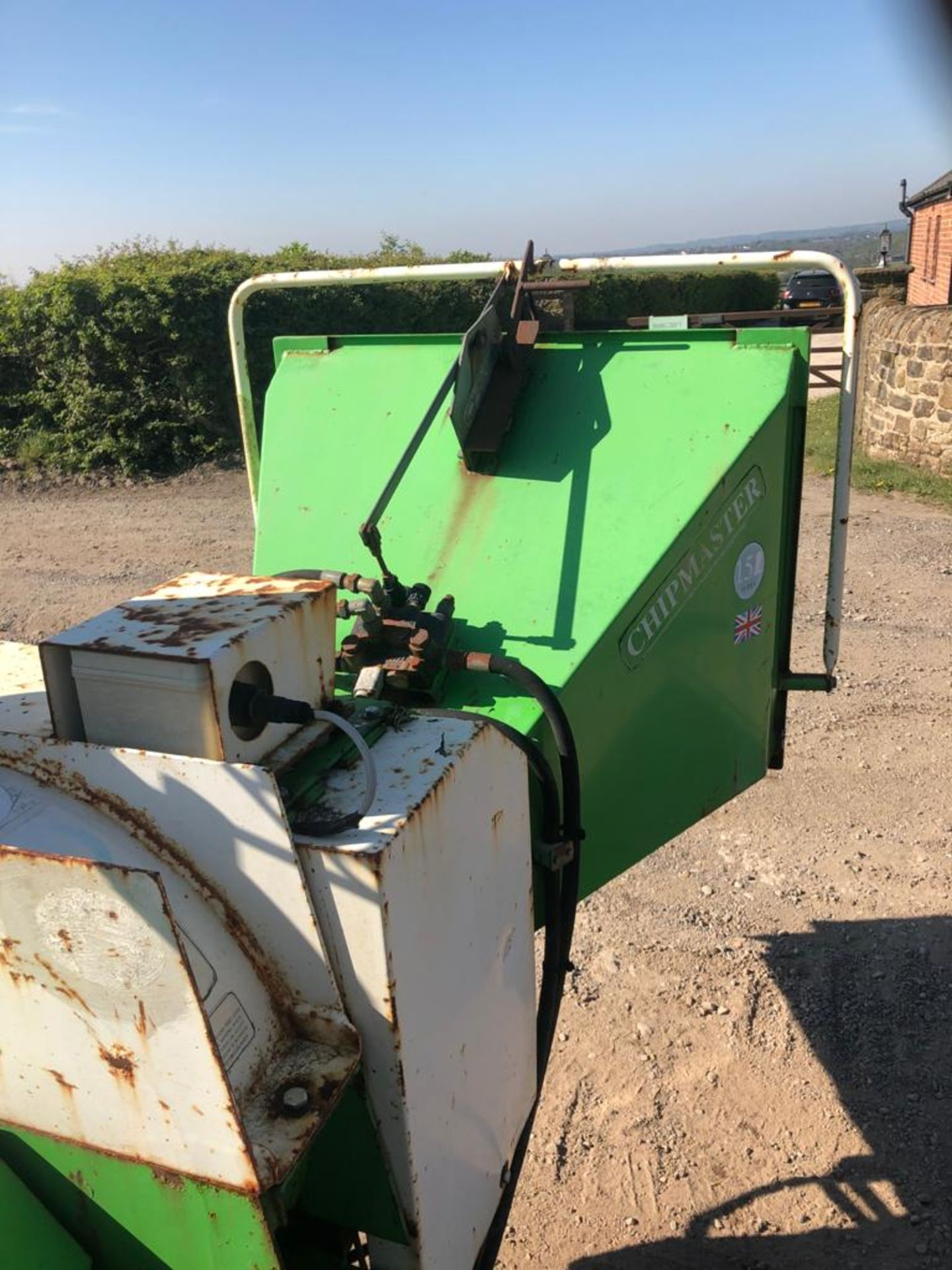 GREENMECH WOOD CHIPPER, 3 POINT LINKAGE, WORKS AND CUTS *PLUS VAT* - Image 6 of 8
