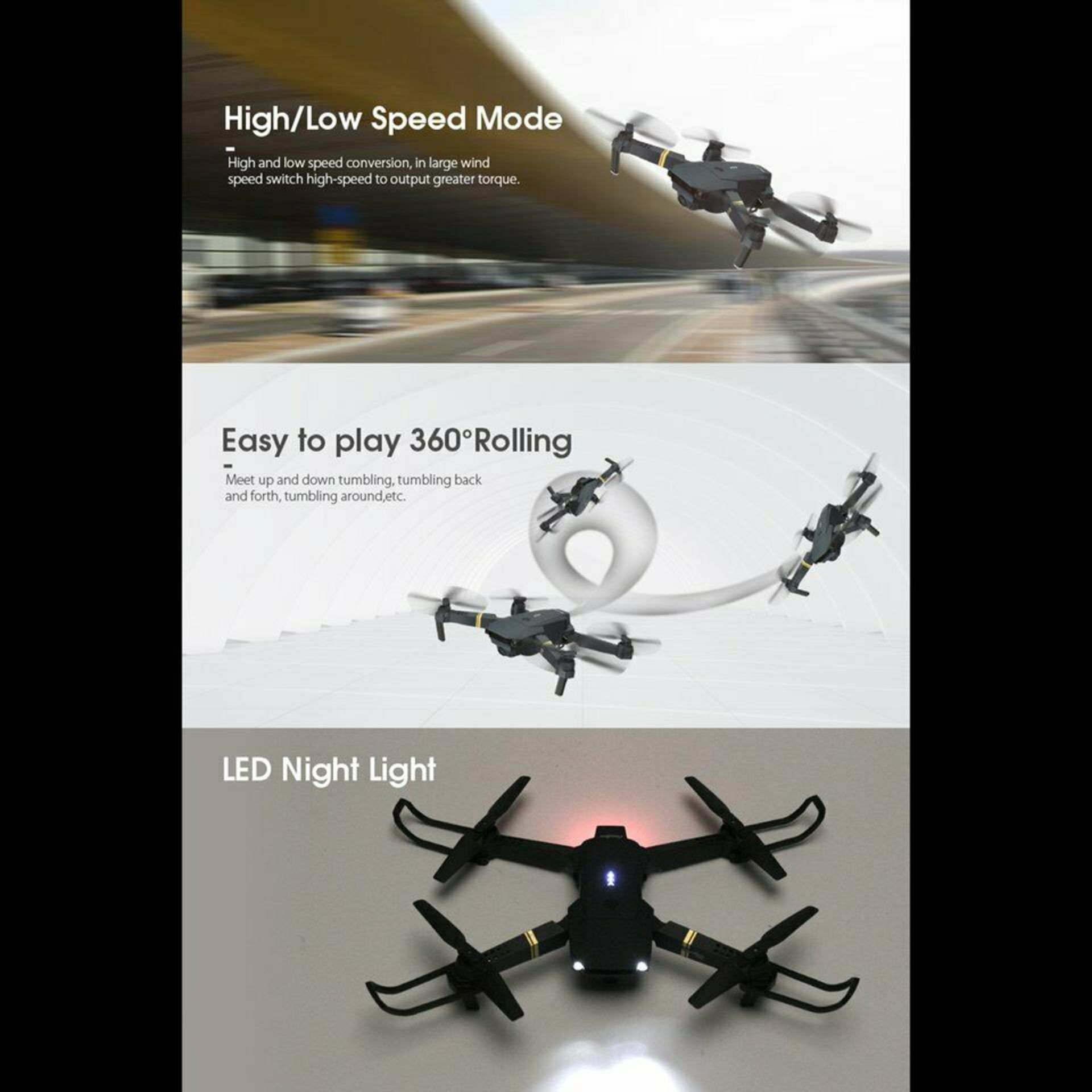 NEW & UNUSED DRONE X PRO WIFI FPV 1080P HD CAMERA FOLDABLE RC QUADCOPTER + BAG *PLUS VAT* - Image 7 of 12