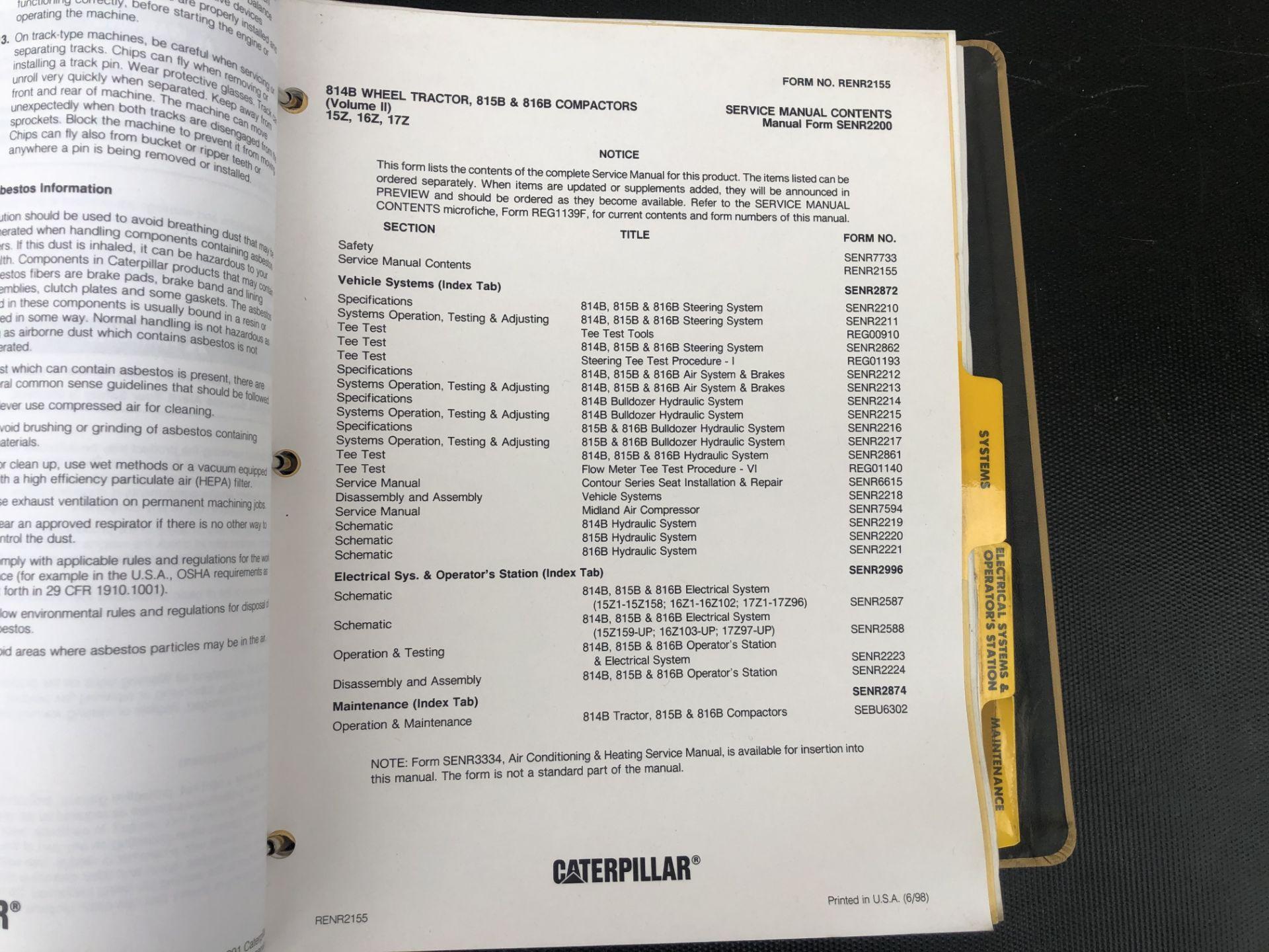 CATERPILLAR 814B, 815B 816B VOLUME II SERVICE MANUAL, GENUINE FACTORY CAT WORKSHOP MANUAL - Image 3 of 3