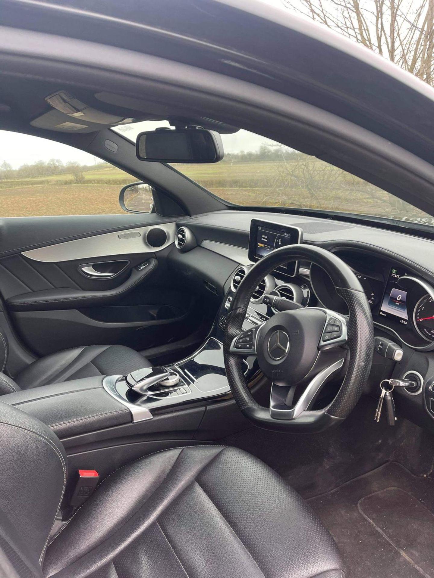 2015 MERCEDES-BENZ C300 AMG LINE BLUETEC HYBRID A, BLACK, AUTOMATIC, ELECTRIC DIESEL, NO VAT - Image 10 of 13