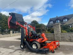 2011 KUBOTA F3680 OUT FRONT RIDE ON LAWN MOWER HIGH TIP COLLECTOR, 4 WHEEL DRIVE, PLUS VAT