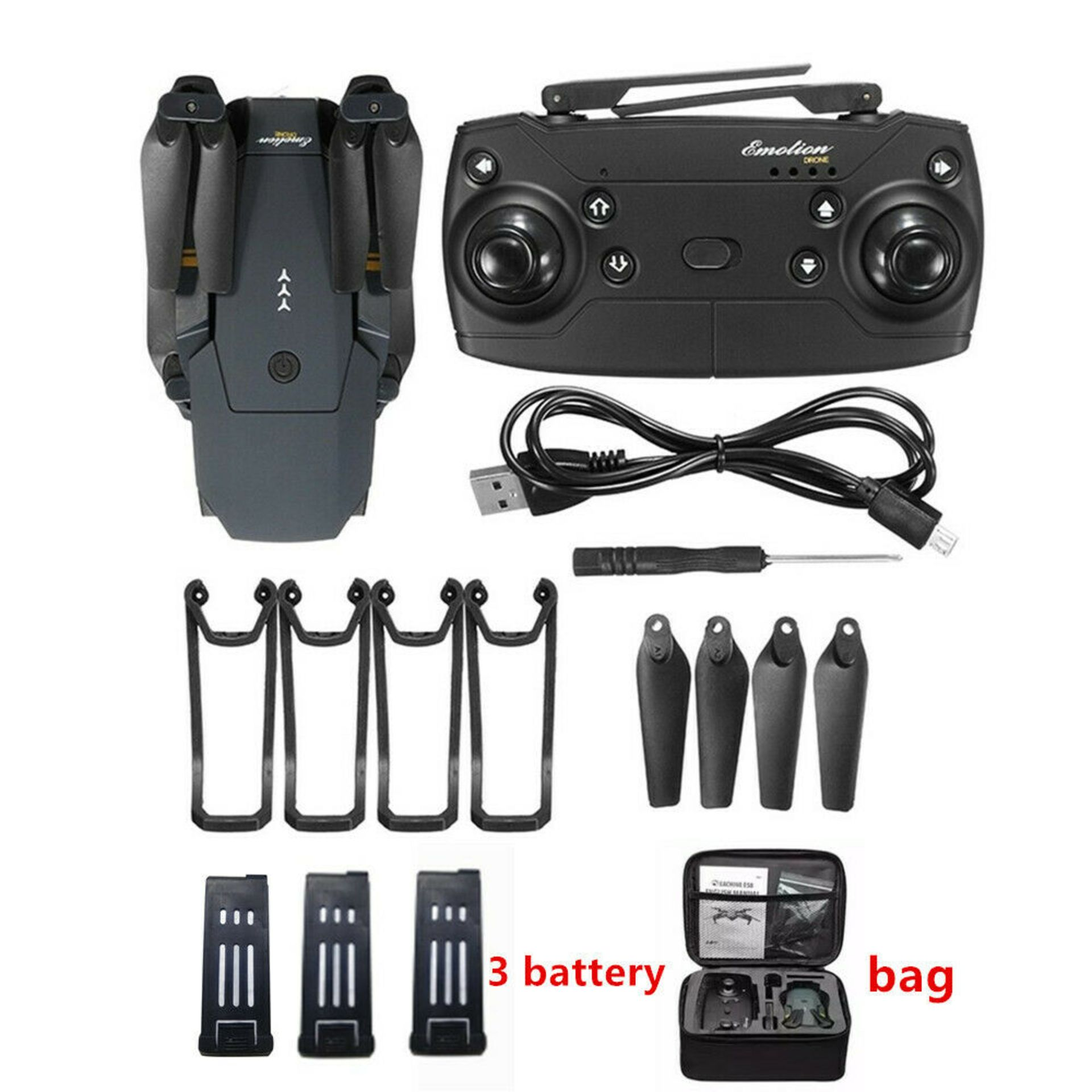 NEW & UNUSED DRONE X PRO WIFI FPV 1080P HD CAMERA FOLDABLE RC QUADCOPTER + BAG *PLUS VAT* - Image 3 of 12