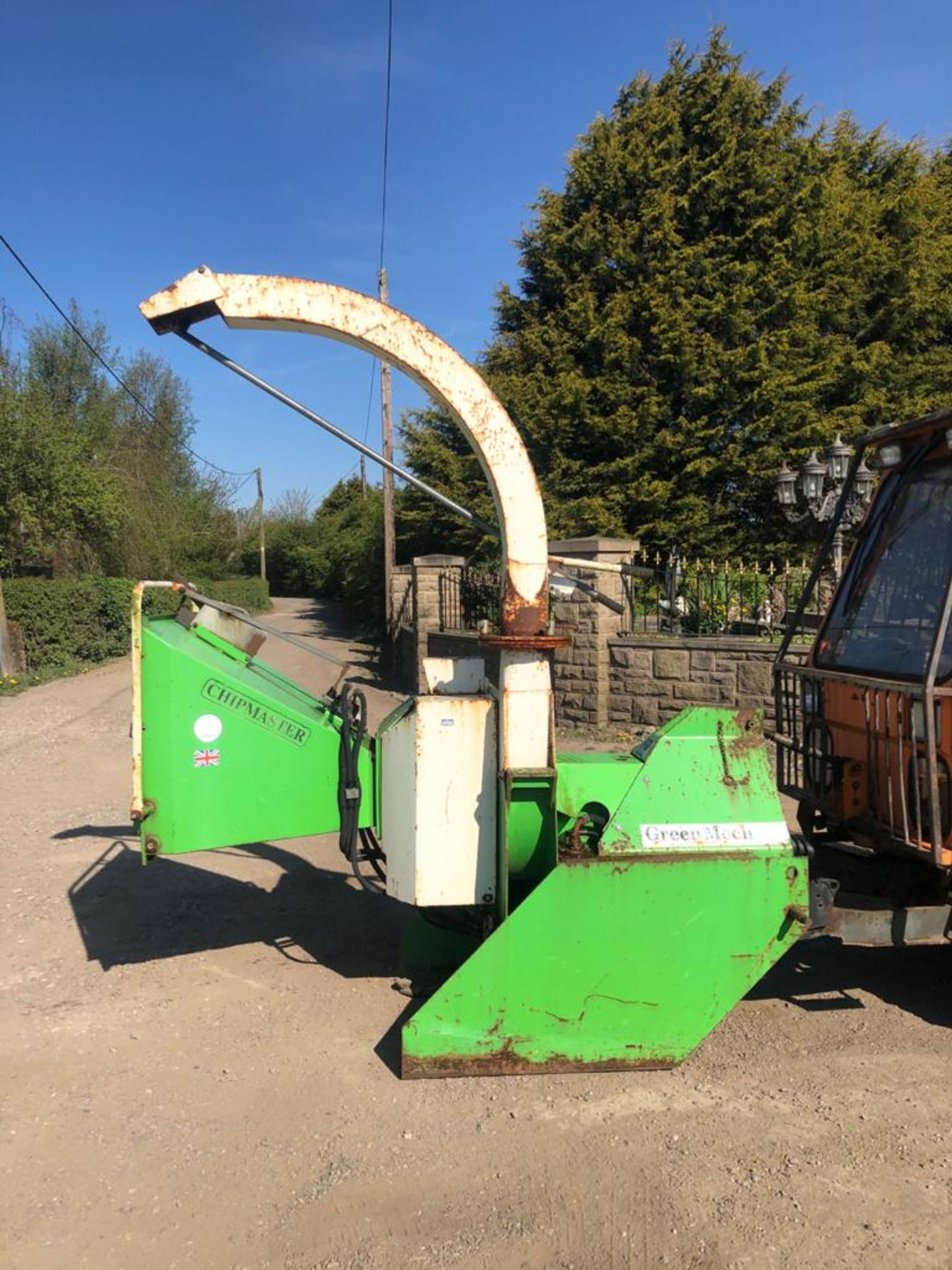 GREENMECH WOOD CHIPPER, 3 POINT LINKAGE, WORKS AND CUTS *PLUS VAT* - Image 8 of 8