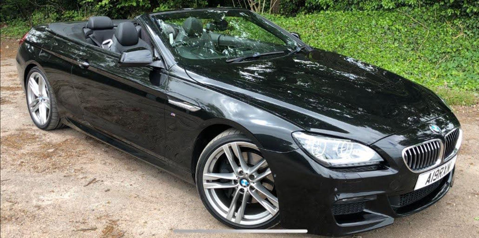 2014/14 REG BMW 640D M SPORT AUTOMATIC 3.0 DIESEL BLACK CONVERTIBLE *NO VAT* - Image 2 of 17