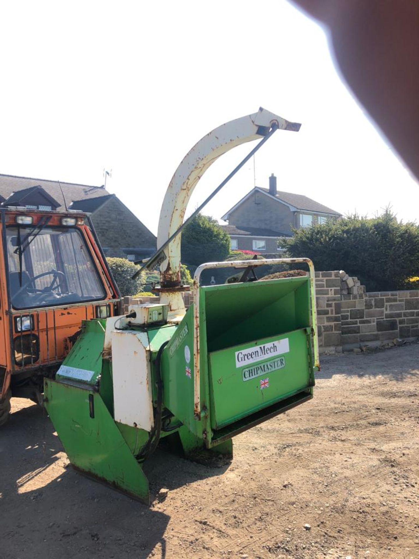 GREENMECH WOOD CHIPPER, 3 POINT LINKAGE, WORKS AND CUTS *PLUS VAT* - Image 5 of 8