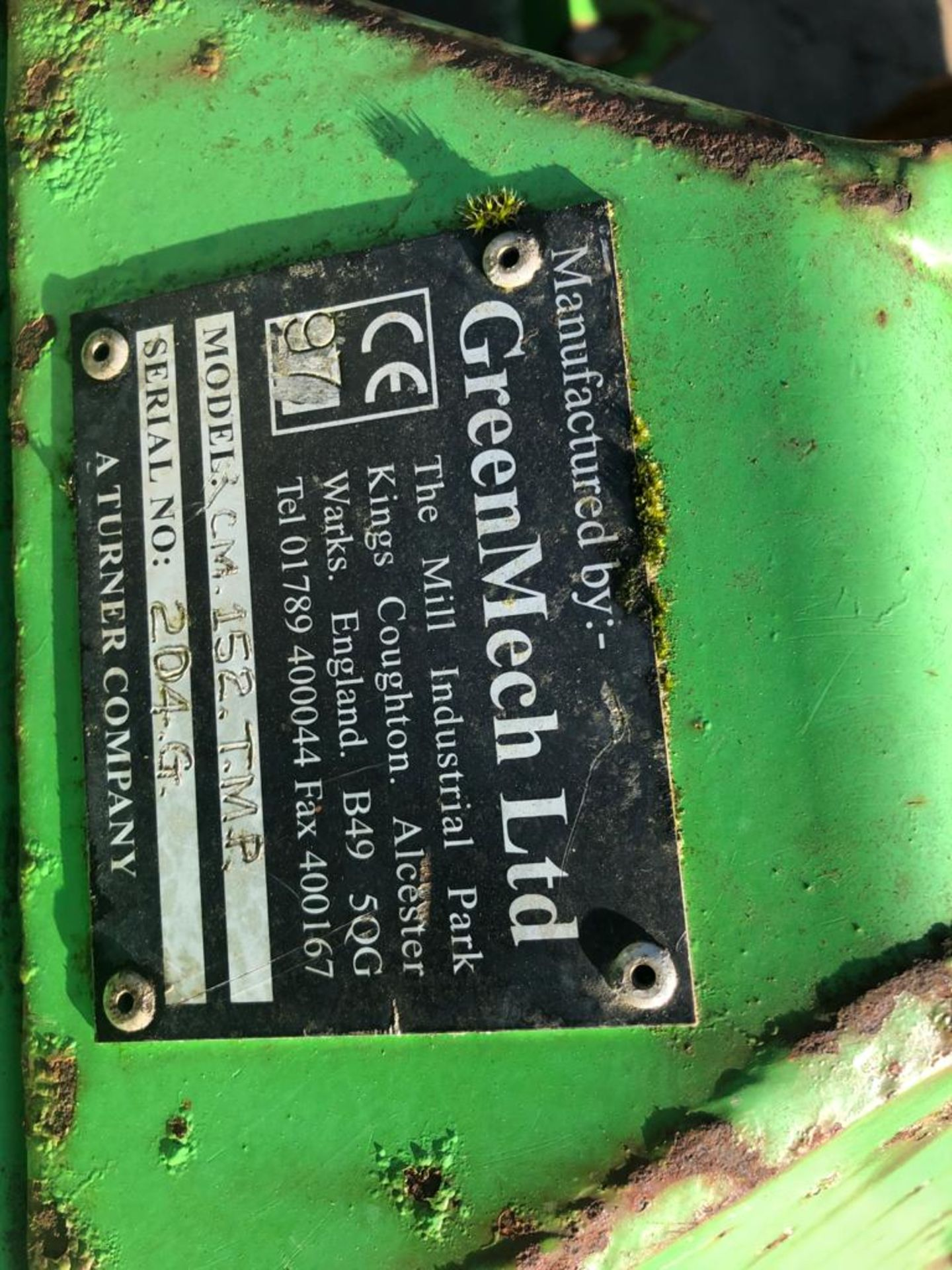 GREENMECH WOOD CHIPPER, 3 POINT LINKAGE, WORKS AND CUTS *PLUS VAT* - Image 2 of 8