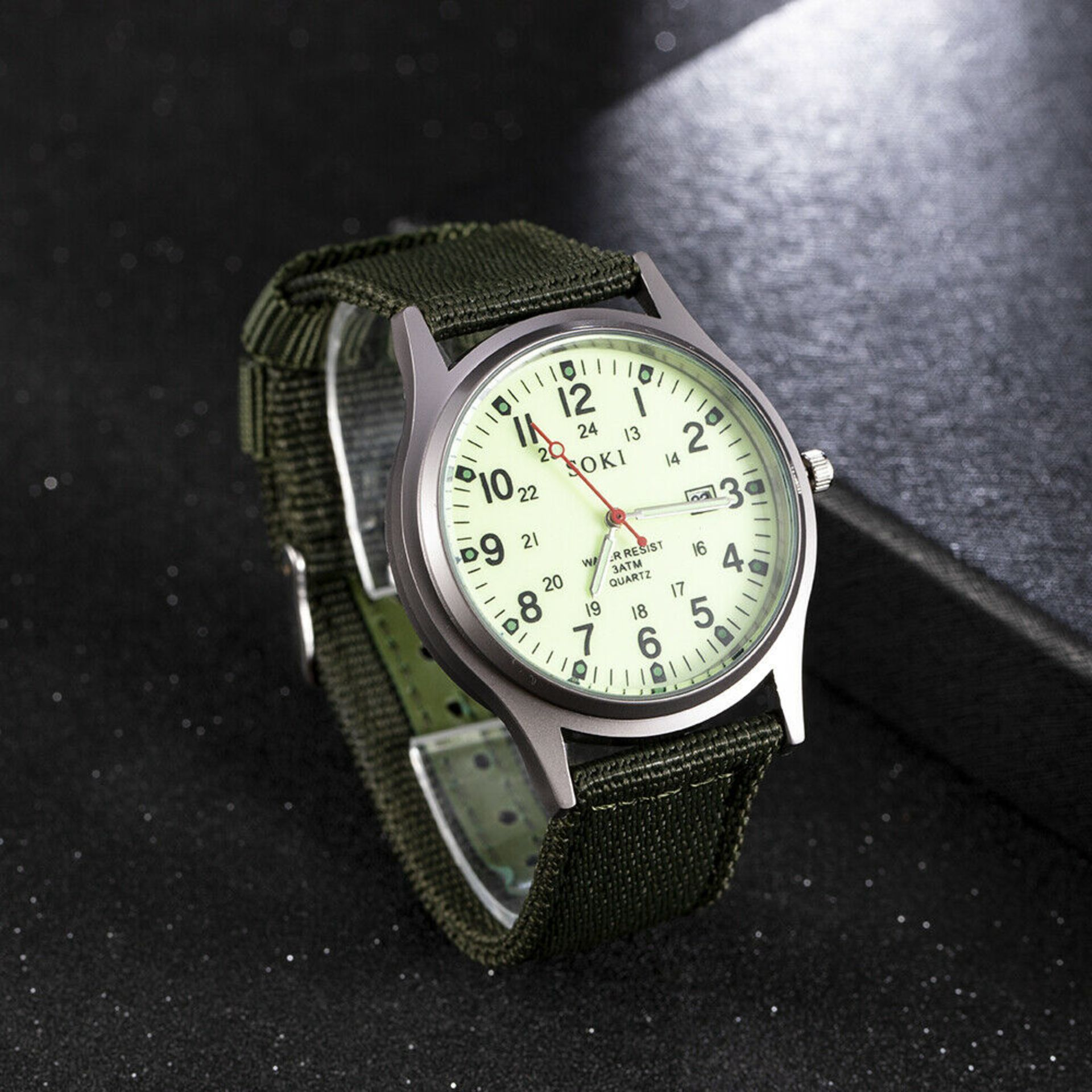 NEW & UNUSED SOKI FASHION QUARTZ LUMINOUS MILITARY INFANTRY ARMY STYLE MENS WRIST WATCH *PLUS VAT* - Image 3 of 3