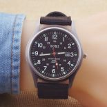 NEW & UNUSED SOKI FASHION QUARTZ BROWN MILITARY INFANTRY ARMY STYLE MENS WRIST WATCH *PLUS VAT*