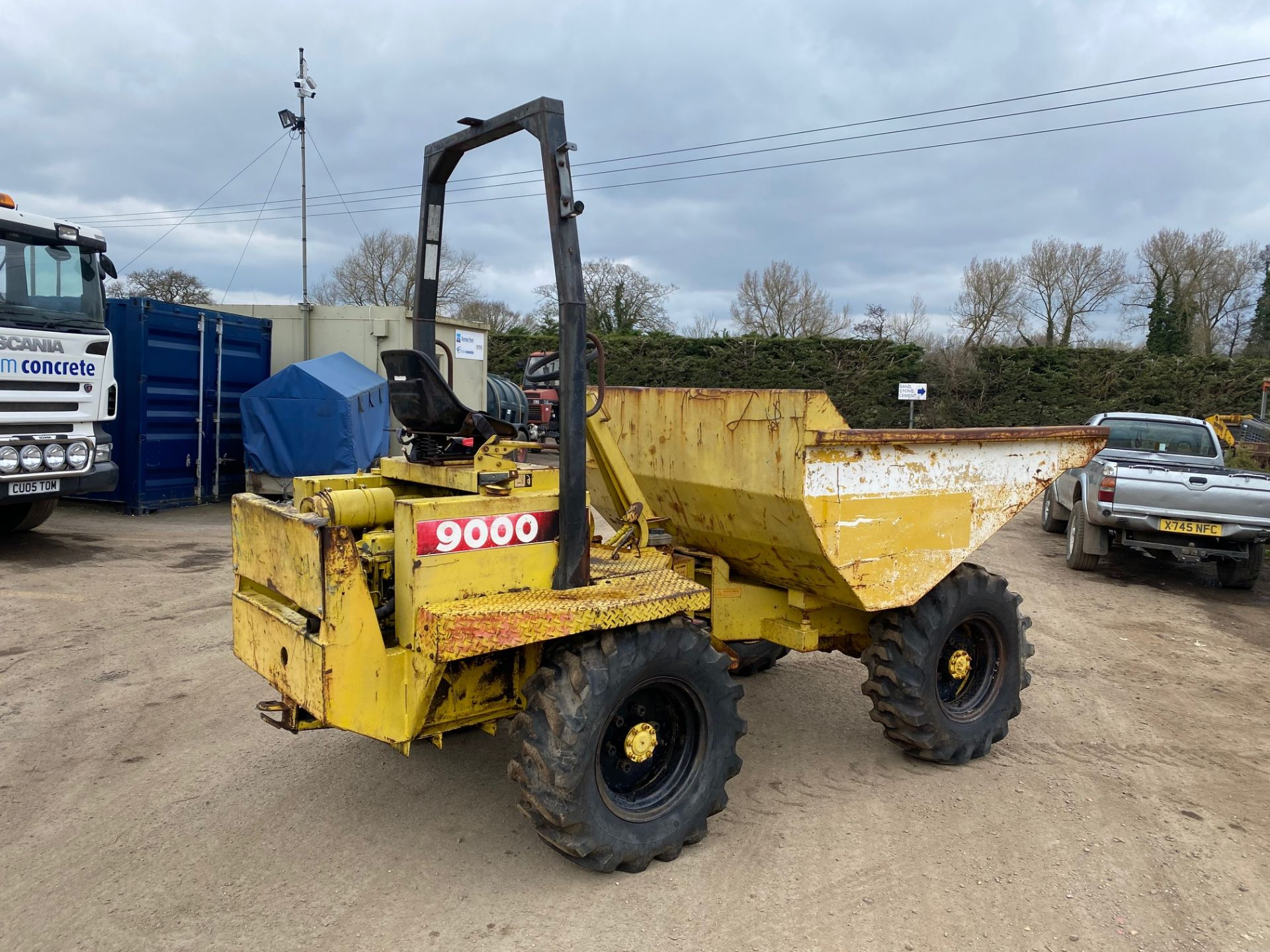 Thwaites 4 ton dumper, 4x4, electric start, Roll bar, 3 cylinder Lister Petter engine - Image 2 of 5